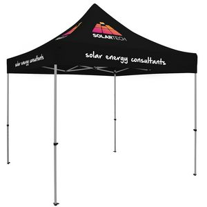 Custom Premium Aluminum 10' Tent Kit (Imprinted, 4 Locations)