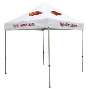 Custom Deluxe 8' Tent Kit (Full-Color Imprint, 4 Locations)