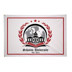Custom Polyester Flag (Double-Sided) - 4' x 6'