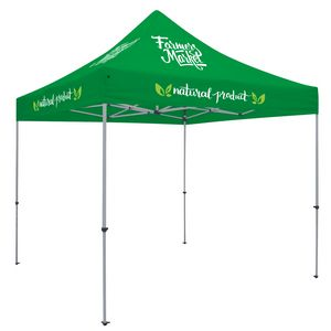 Custom Deluxe 10' Tent Kit (Full-Color Imprint, 4 Locations)