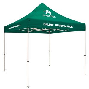 Custom Standard 10' Tent Kit (Full-Color Imprint, 3 Locations)