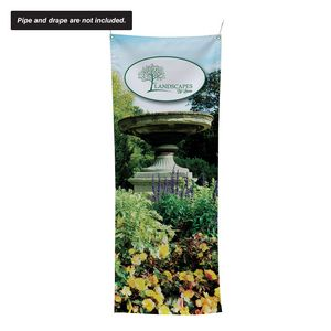 """24""""W x 60""""H Pipe and Drape Banner Kit"""
