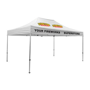 Custom Premium Aluminum 15' Tent Kit (Imprinted, 4 Locations)