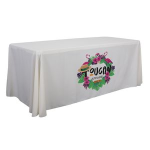 Custom 6' Economy Table Throw (Dye Sublimation, Front Only)