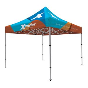 Custom Compact 10' Tent Kit (Full-Bleed Dye Sublimation)