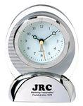 Custom Oval Quartz Movement Alarm Clock with Sweep Second Hand
