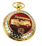 Custom Pocket Watch w/ Chain (Fire Engine)