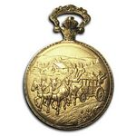 Pocket Watch w/ Chain (Horse Carriage)