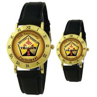 Mother of Pearl Face w/ Black Leather Strap Watch