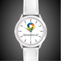 Unisex White Leather Band Watch