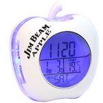 Custom Apple Shaped Talking Alarm Clock (White)