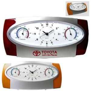 Analog Alarm Clock w/ Temperature and Humidity Indicator