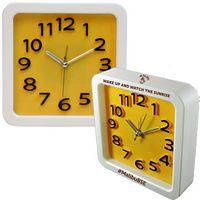 Large Retro Look Analog Alarm Clock (Yellow)