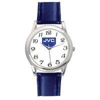 Men's Blue Leather Strap Watch