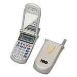Folding Cell Phone Shaped Calculator W/ Mirror