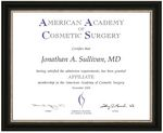 Custom Award Certificate Framed in Studio Line Frame (11