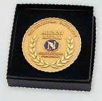 Custom Custom Cast Polished Gold Medallion w/ High Polished Finish /2.75