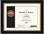 Custom Award Certificate Framed in Studio Line Frame (8.5