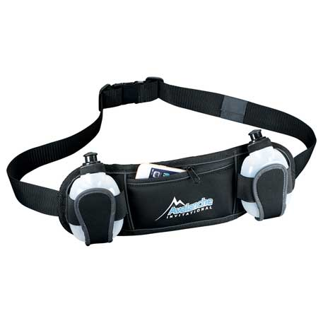 Slazenger Reflective Fitness Hydration Belt, 6051-51 - 1 Colour Imprint