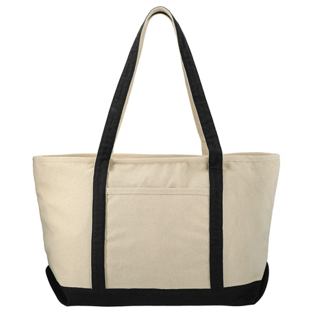 18 oz. Cotton Canvas Premium Zippered Boat Tote, 7900-31 - 1 Colour Imprint