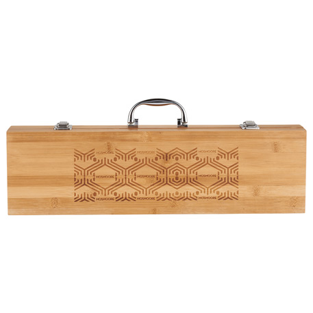 Grill Master 3pc Bamboo BBQ Set, 1450-98, Laser Engraved Imprint