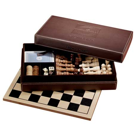 Fireside 6-in-1 Multi-Game Set, 1250-28 - Debossed Imprint