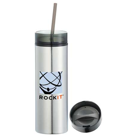 Hot & Cold Skinny Stainless Tumbler 15oz, 1623-93, 1 Colour Imprint