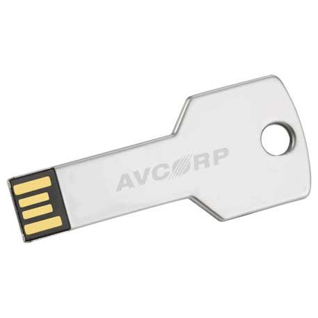 Key Flash Drive 2GB, 1693-19 - Laser Engraved Imprint