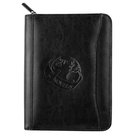 Renaissance Jr. Zippered Padfolio, 1000-06, Deboss Imprint