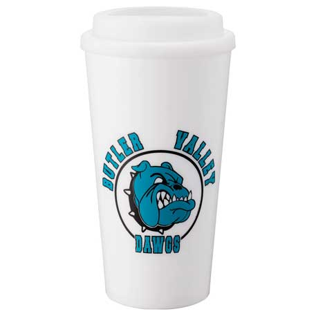 Mega Double-Wall Plastic Tumbler 16oz, 1622-84, 1 Colour Imprint