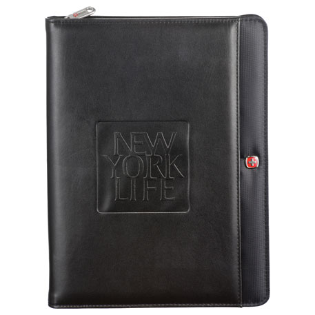 Wenger(R) Tech Zippered Padfolio, 9355-13, Deboss Imprint