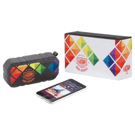 Brick Outdoor Bluetooth Speaker w/ Full Color Wrap, 7198-79, 1 Colour Imprint