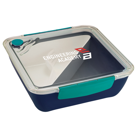Punch Square Food Container, 1031-43 - 1 Colour Imprint