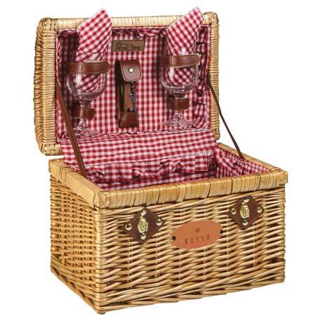 Picnic Time Chardonnay Wine Basket, 8008-02, Deboss Imprint