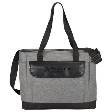 Professional Heathered Tote with Vinyl Accent, 3450-65, Deboss Imprint