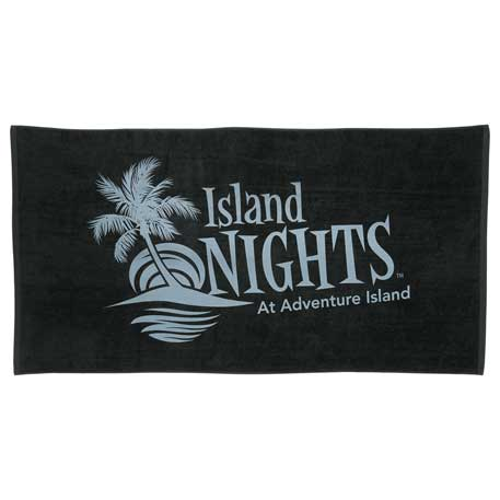 10 lb./doz. Coloured Beach Towel, 2090-13 - Tone on Tone Imprint