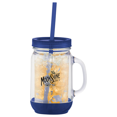 Game Day Double-Wall Mason Jar 20oz, 1624-31 - 1 Colour Imprint