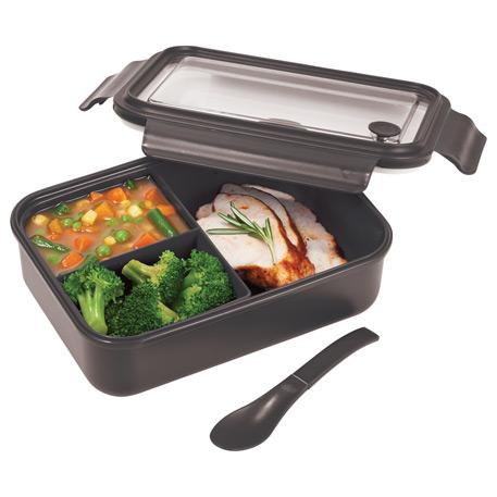 Three Compartment Food Storage Bento Box, 1031-56, 1 Colour Imprint