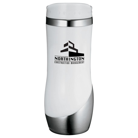 Curved Stainless Tumbler 16oz, 1622-24, 1 Colour Imprint