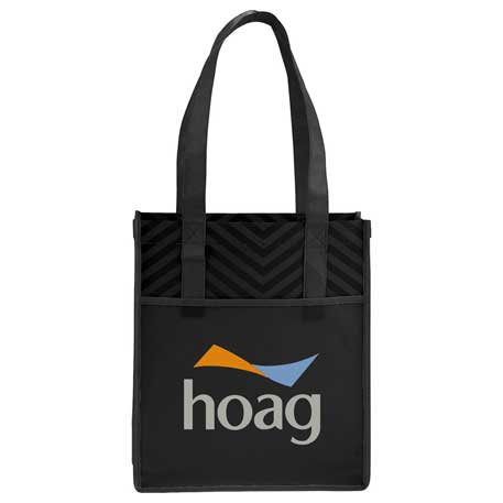 Printed Chevron Non-Woven Shopper Tote, 2150-51, 1 Colour Imprint