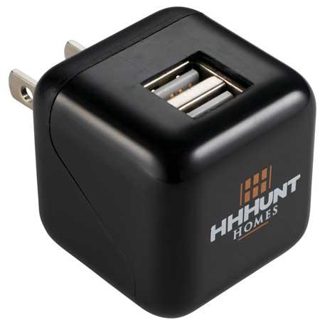 ETL Listed USB Dual Output AC Adapter, 7120-26 - 1 Colour Imprint