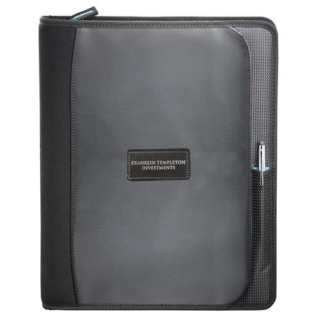 Zoom 2-in-1 Tech Sleeve Zip Padfolio, 7003-52 - Epoxy Dome - Full Colour