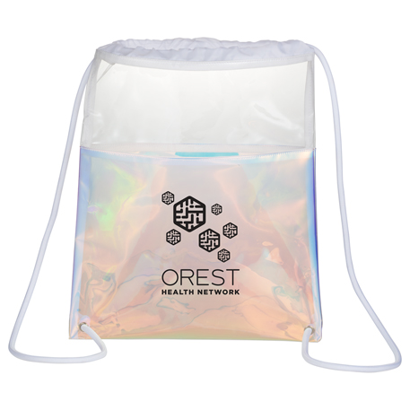 Iridescent Drawstring Bag, 3005-37, Deboss Imprint