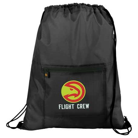 BRIGHTtravels Packable Drawstring Sportspack, 7007-31 - 1 Colour Imprint