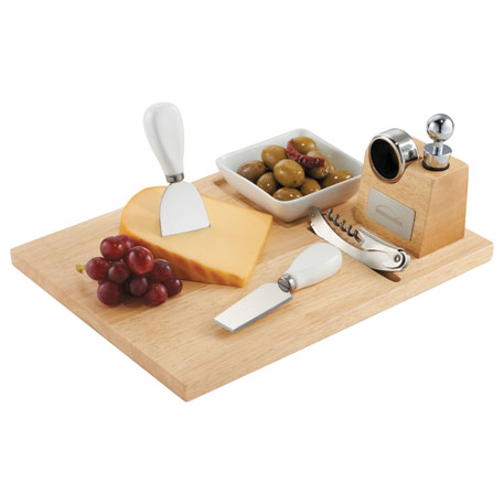 Entertainer Wine & Cheese Board, 1450-37, Laser Engraved Imprint