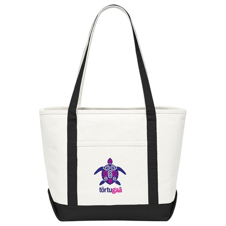 18 oz. Cotton Canvas Premium Boat Tote, 7900-30 - 1 Colour Imprint