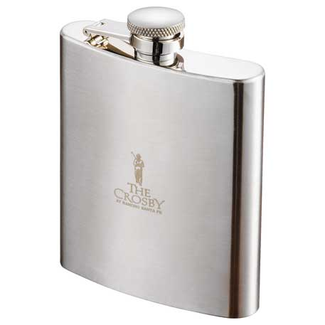 Zippo 8 oz. Hip Flask, 7550-03, Laser Engraved Imprint