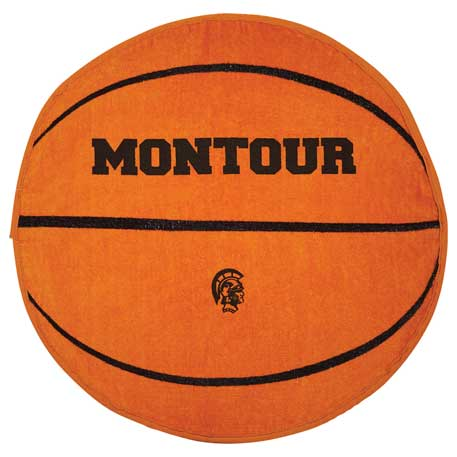 Basketball Shaped Stock Design Sport Towel, 2090-71 - 1 Colour Imprint