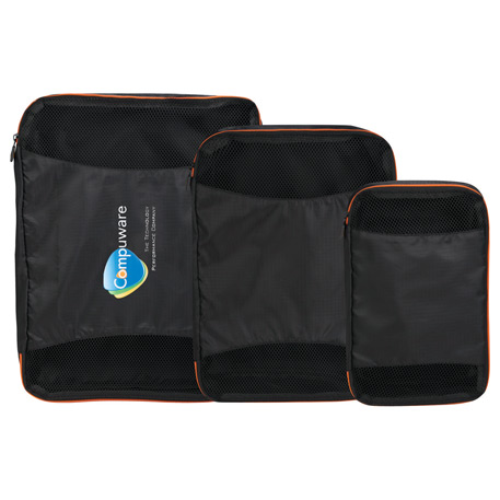 BRIGHTtravels Set of 3 Packing Cubes, 7007-03, Deboss Imprint