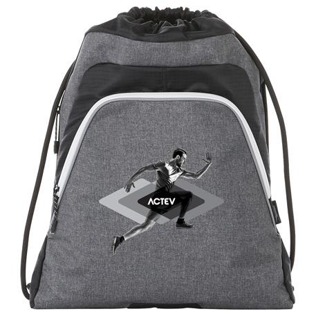Slazenger Competition Reveal Drawstring Sportspac, 6050-70 - Debossed Imprint
